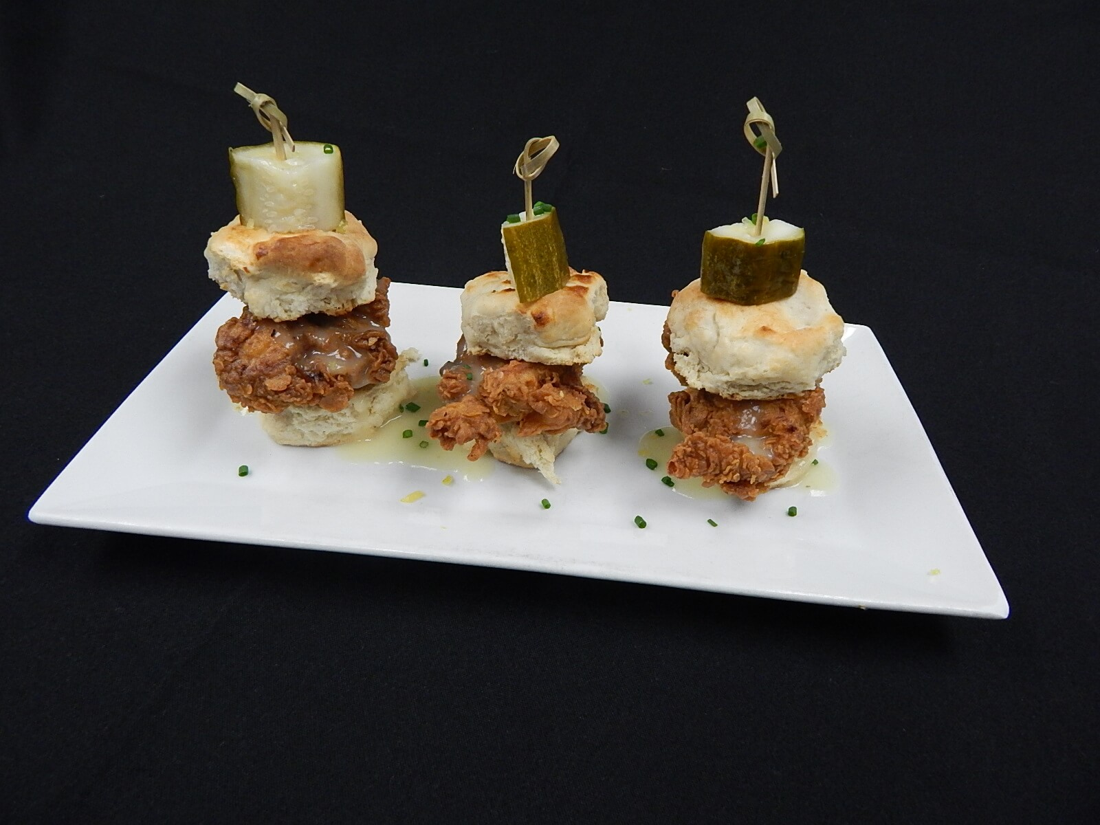 Chicken and biscuit sliders the living room for Living room 101 atlantic ave boston
