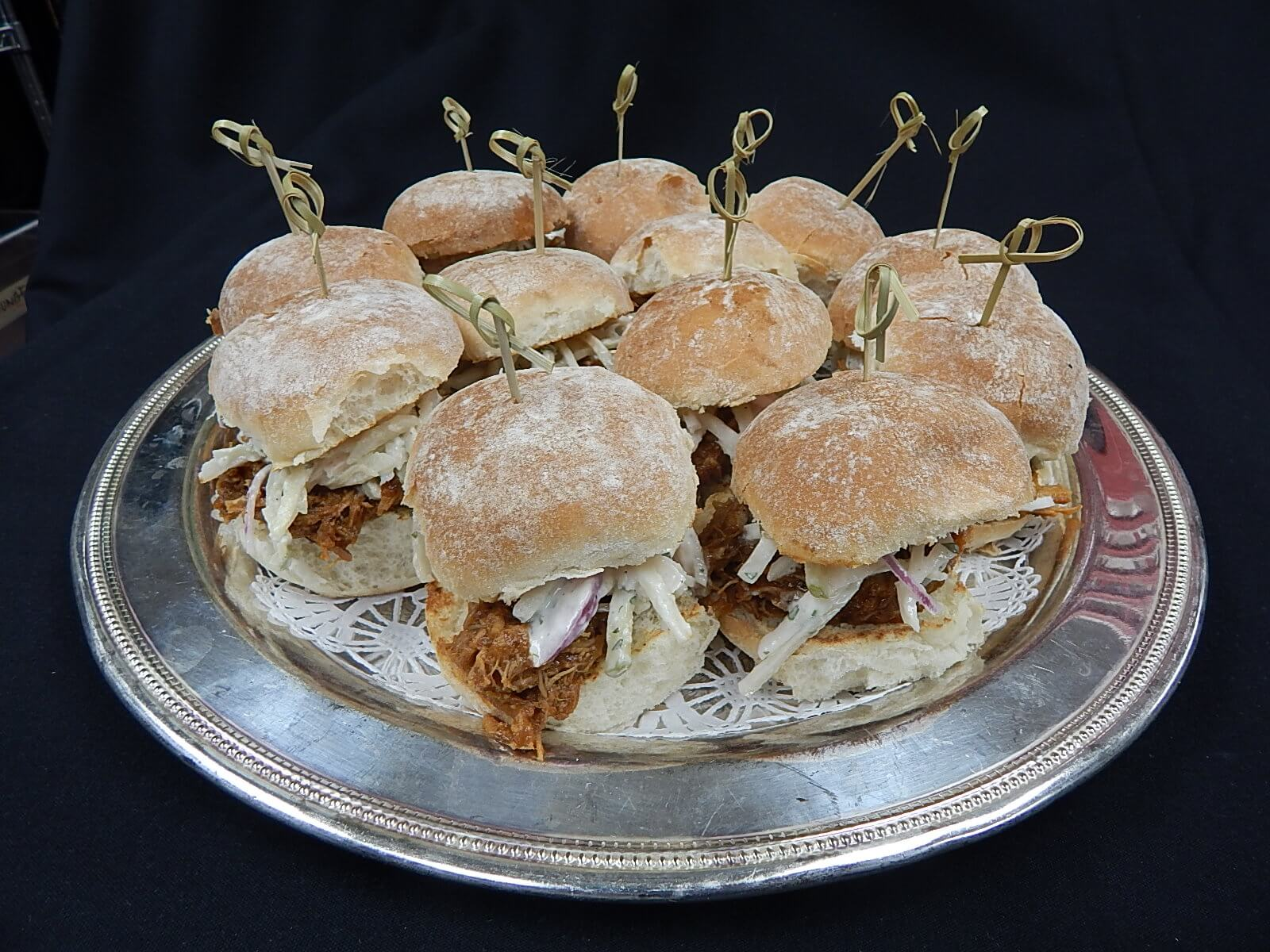 Mini pulled pork sliders the living room for Living room 101 atlantic ave boston